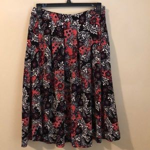 H&M's Multi colored midi skirt.
